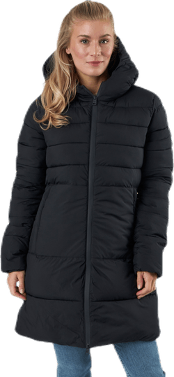 Hooded Polyfilled Jacket Black