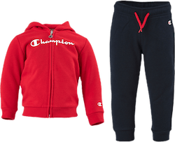 Hooded Full Zip Suit Jr Red