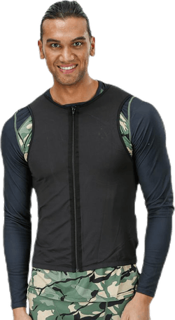 Vest Backprotector Flex Zip Black