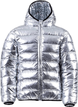 Girls Hooded Jacket Silver
