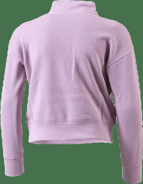 Girls Half Zip Sweatshirt Pink