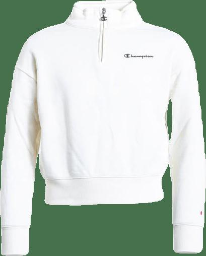Girls Half Zip Sweatshirt White
