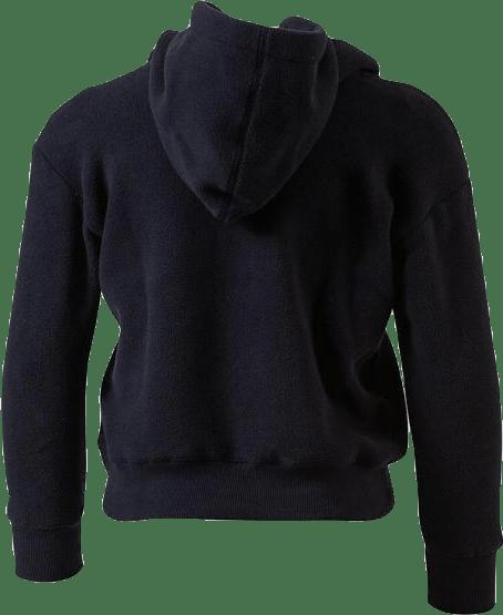 Jr Hooded Polar Fleece Black