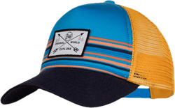 Kids Trucker Cap  Blue/Orange