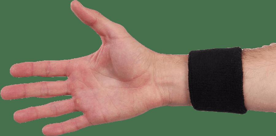 Swoosh Wristband White/Black
