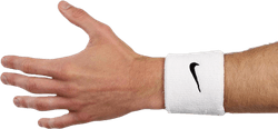 Swoosh Wristband White/Black