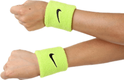 Swoosh Wristband Black/Green