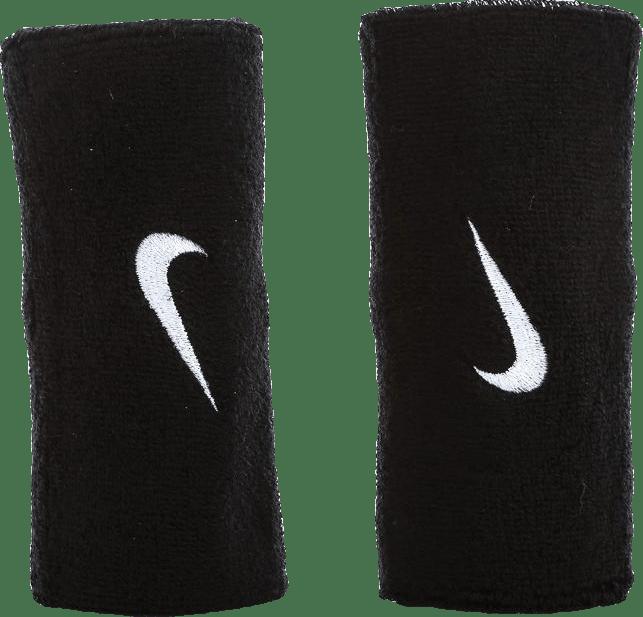 Swoosh Doublewide Wristbands White/Black