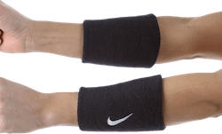 Swoosh Doublewide Wristbands Blue