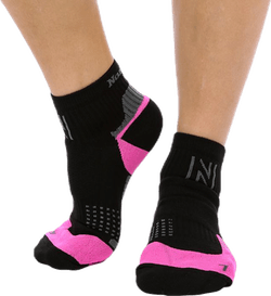 Brisco mid-Cut Running Socks Pink/Black