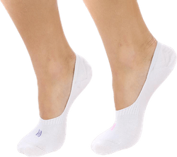 Scarlett 2-pack Invisible Sock Lady White