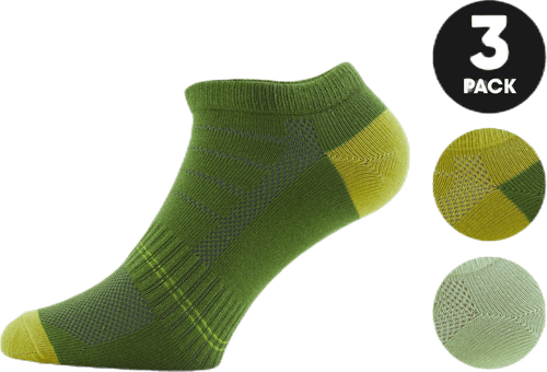 Low Cut Socks - Minnie 3-Pack Green