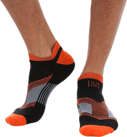 Sebastian Thin Running Sock Low-cut Orange/Black
