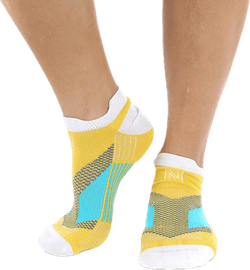 Mirenda Thin Running Sock Low-cut White/Yellow