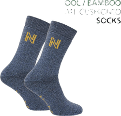 Gabby Walking Sock Bambu Merinowool Blue