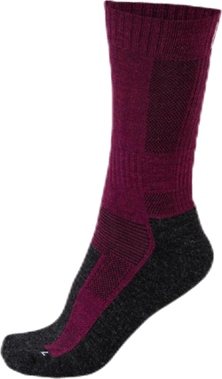 Merino Trekking Socks - Leonardo Grey/Red