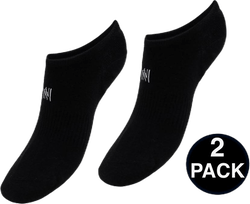 No Show Socks - Leo 2-Pack Black