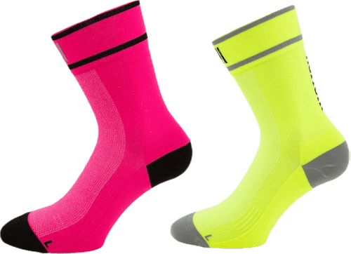 Cycling and Running Socks - Adam Purple/Green