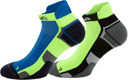 2-Pack Running Socks - Lewis Blue/Green