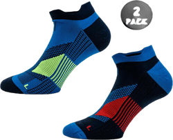 2-Pack Running Socks - Thomas Blue
