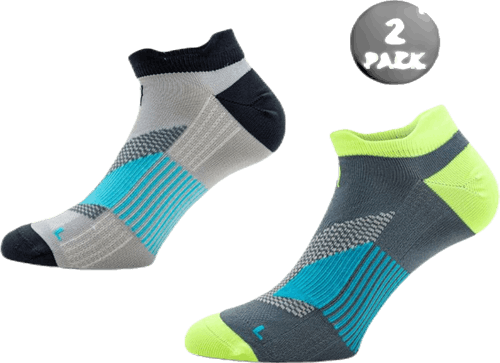 2-Pack Running Socks - Thomas Grey