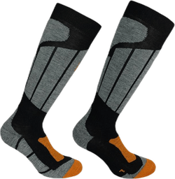 Aspen - Ski and Snowboarding Socks w Merino Wool and CLIMAYARN Black