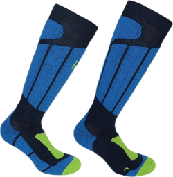 Aspen - Ski and Snowboarding Socks w Merino Wool and CLIMAYARN Blue
