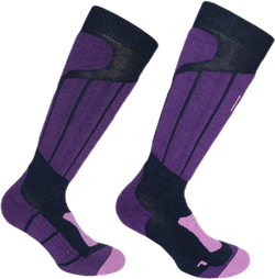 Aspen - Ski and Snowboarding Socks w Merino Wool and CLIMAYARN Purple