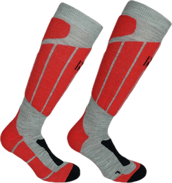 Aspen - Ski and Snowboarding Socks w Merino Wool and CLIMAYARN Red