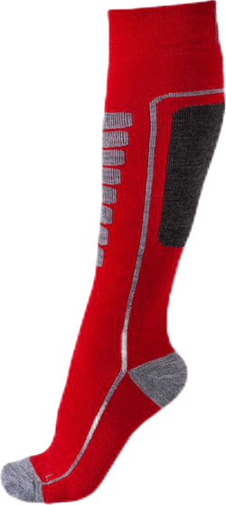 Courchevel - Ski and Snowboarding Socks w Merino Wool Red