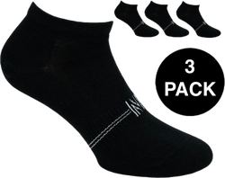 Fresh- 3-Pack Cotton Low Cut Training Socks Black