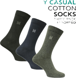 3-Pack Casual Socks - Brody Patterned