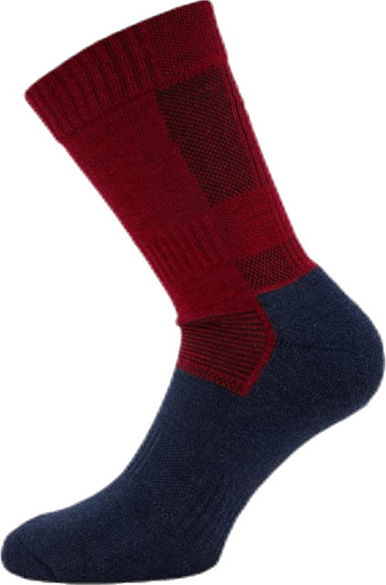 Merino Trekking Socks - Leonardo Blue/Red