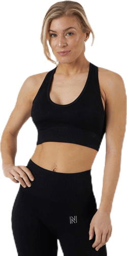 Erica Seamless Sports Bra Black