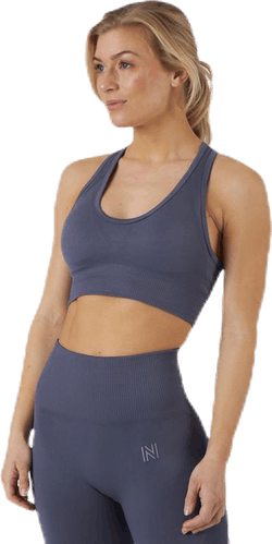 Erica Seamless Sports Bra Blue