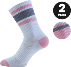 Retro 2-pack Sport Socks Pink/White