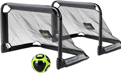 Pico Soccer Goal (Set Of 2 Foldable Goals) Green/Black