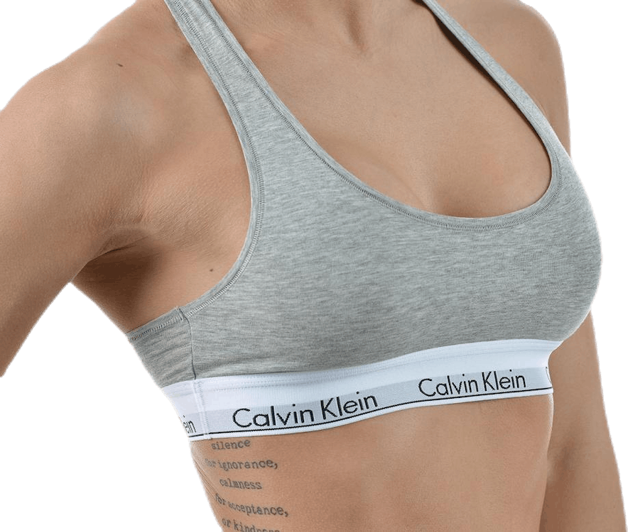 Modern Cotton Unlined Bralette Grey