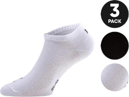 Invisible Sneaker 3-Pack White