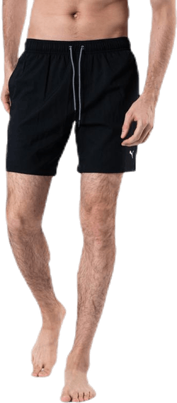 Medium Length Swim Shorts Black