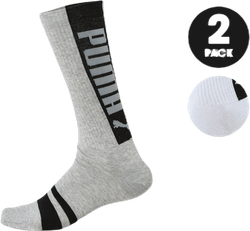 Logo Sock 2-Pack White/Grey