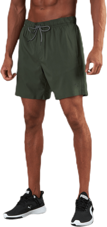 Medium Length Swim Shorts Green