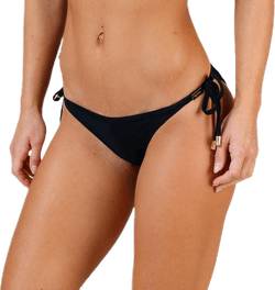 String Side Tie Bikini Black