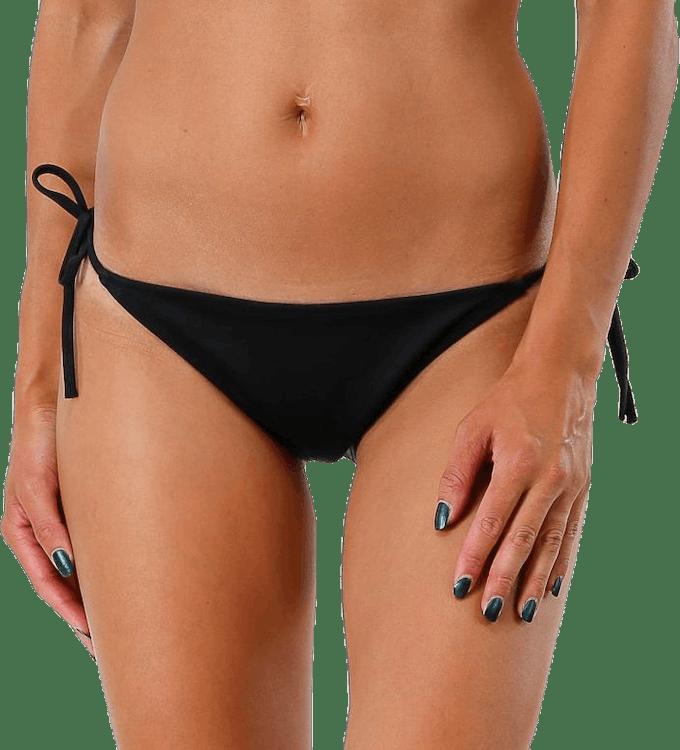 Cheeky String Side Tie Bikini Black