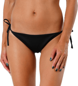 Cheeky String Side Tie Bikini Black