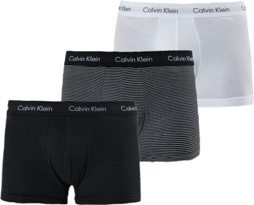 Low Rise Trunk 3-Pack White/Black