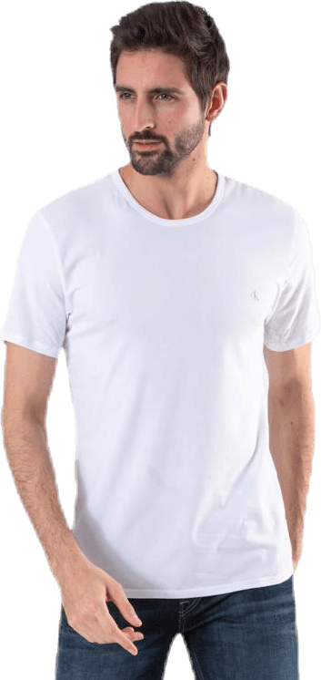 Ck One Cotton S/S Crew Neck 2-Pack White