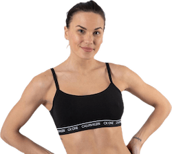 Ck One Cotton Unlined Bralette Black
