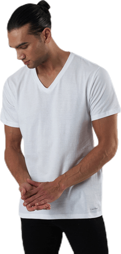 S/S V Neck 3-Pack White