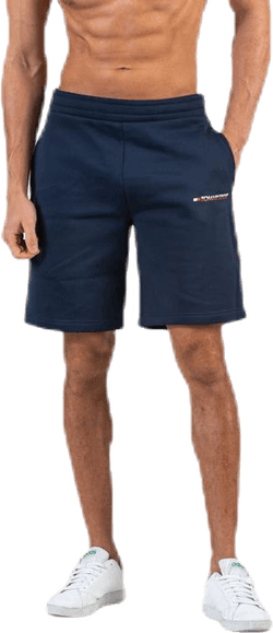 "Fleece Shorts With Tape 9"" Blue"